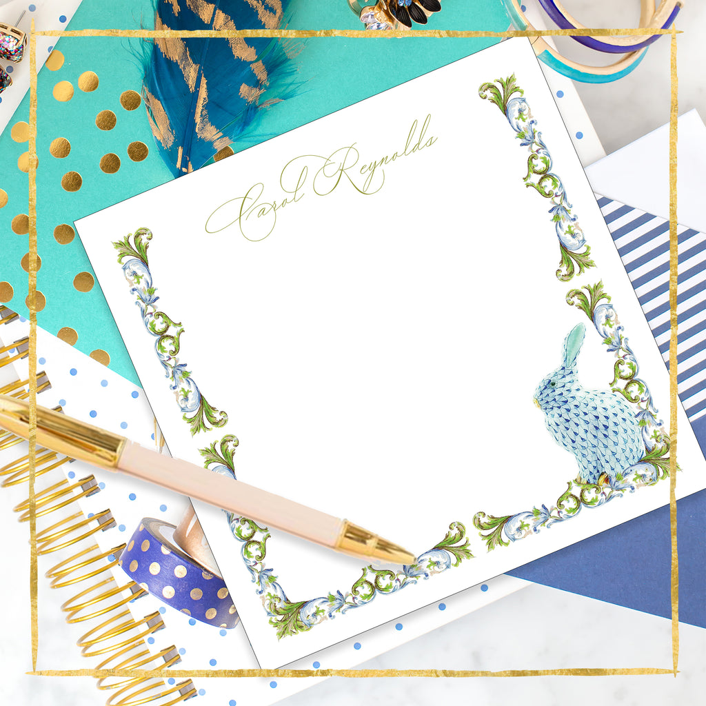 Personalized Monet's Garden Notepad