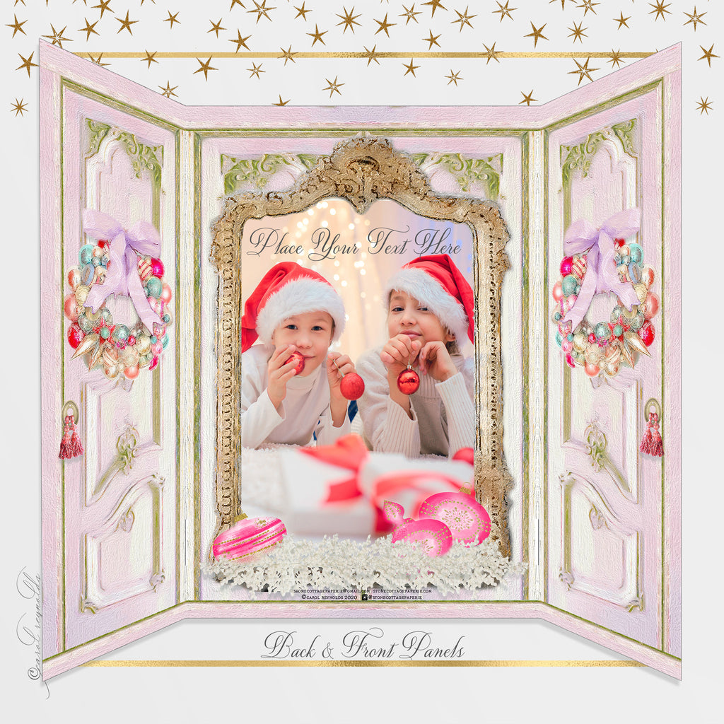 """Baby Girl's 1st Christmas"" Christmas Card"