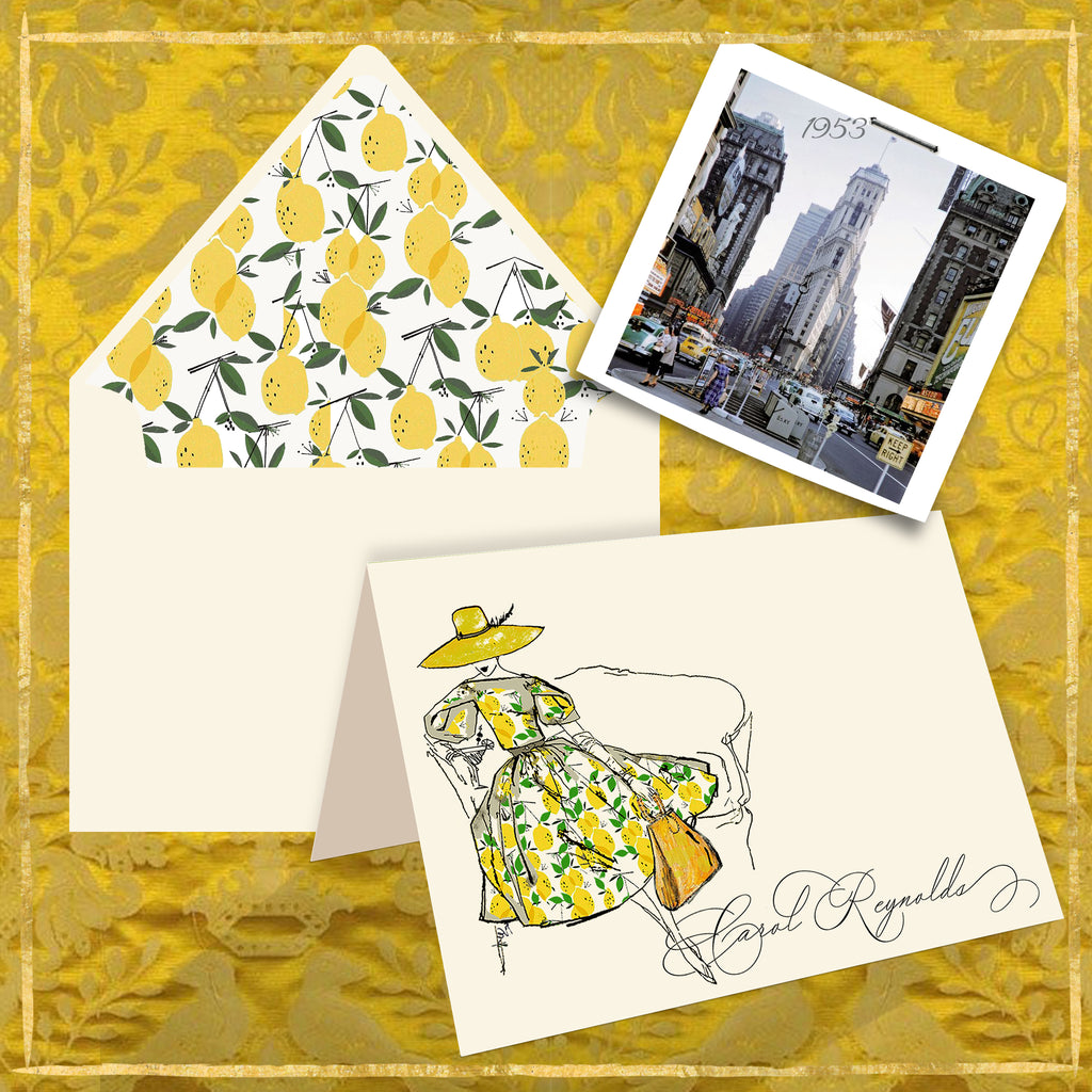 Meet Me in Manhattan Personalized Notecards