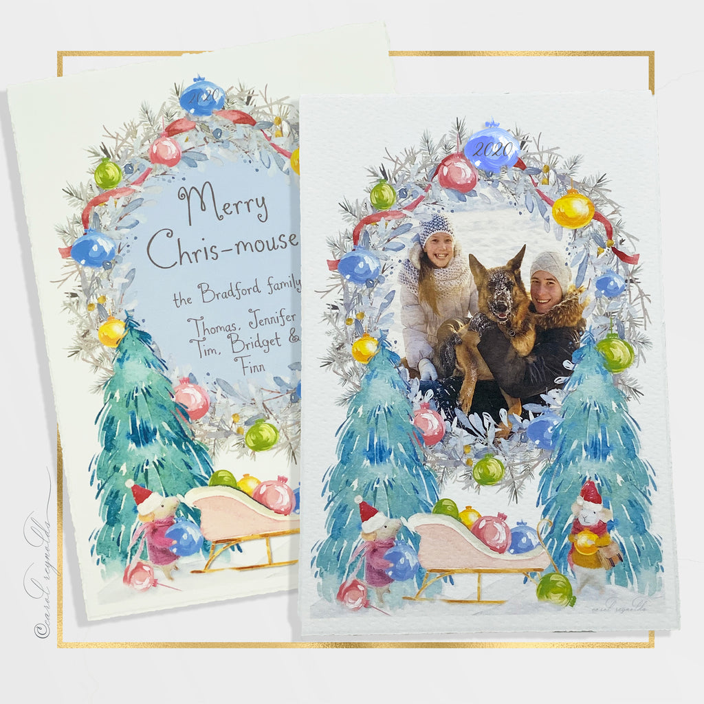 """Merry Chris-mouse"" Christmas Card"