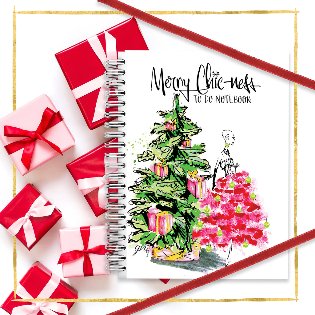 Merry Chic-ness Christmas Notebook