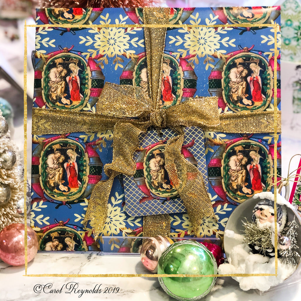"""O Holy Night"" Christmas Wrapping Paper"