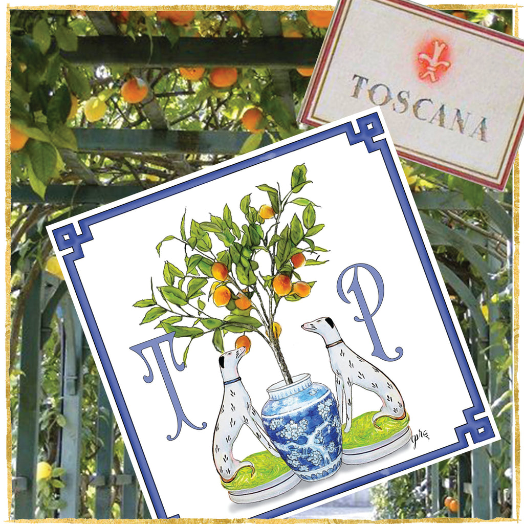 """Under the Tuscan Orange Tree"" Notecards"