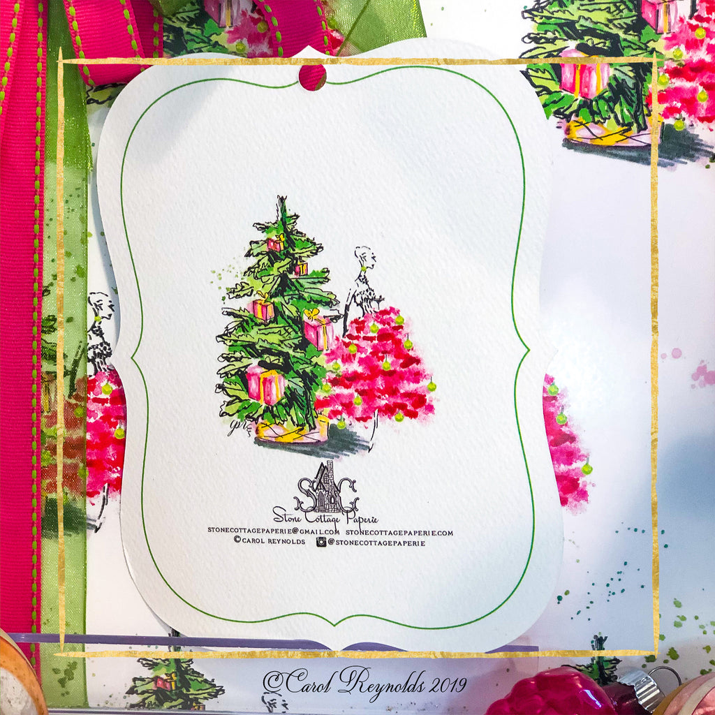 """Merry Chic-ness Christmas Gift Tags"