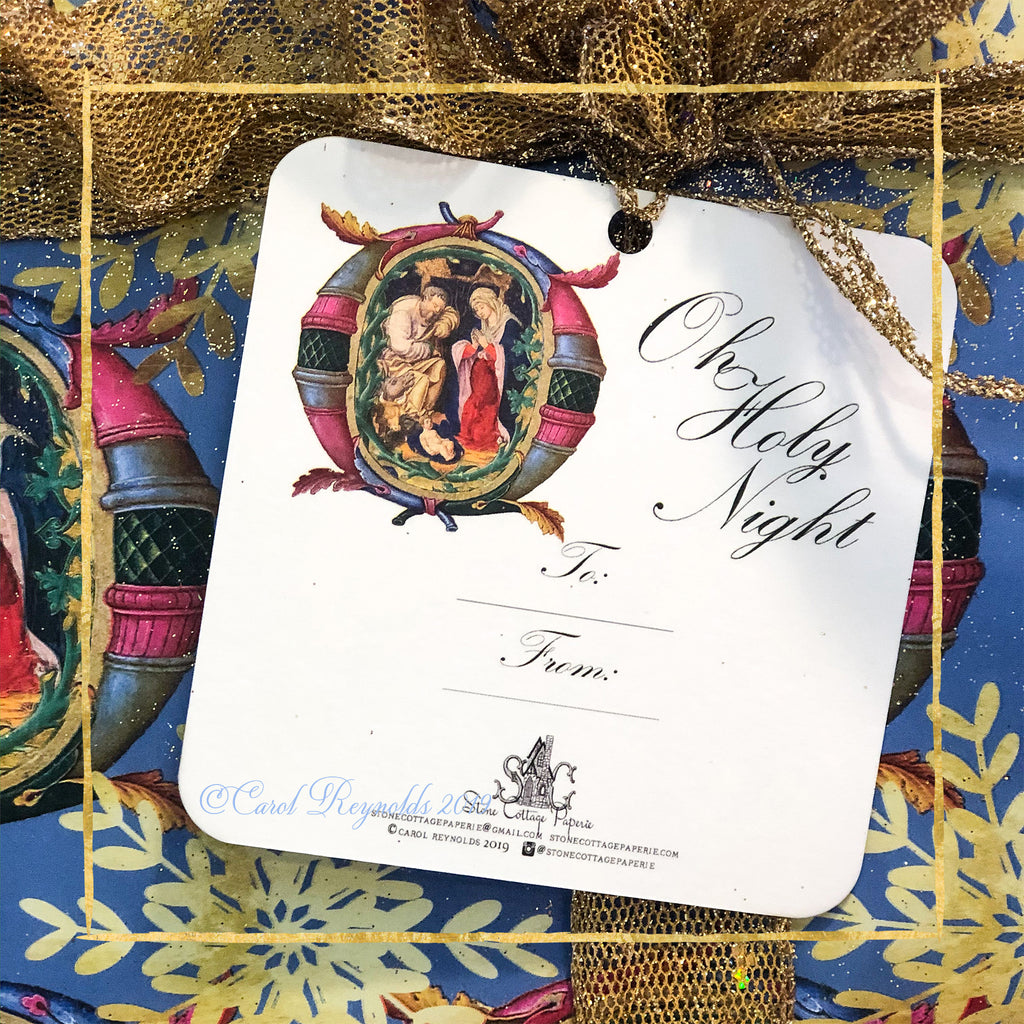 "'O Holy Night"" Christmas Gift Tags"