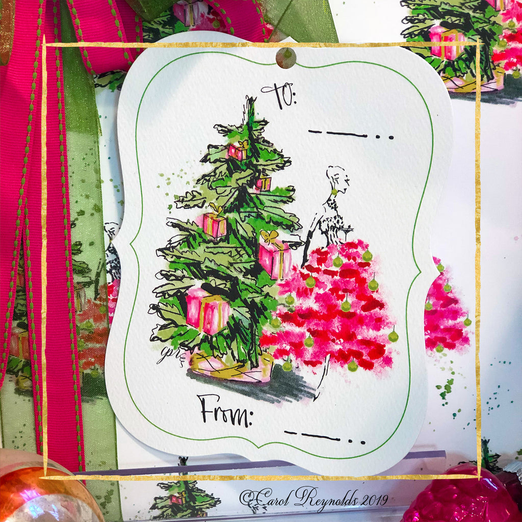 """Merry Chic-ness"" Christmas Gift Tags"