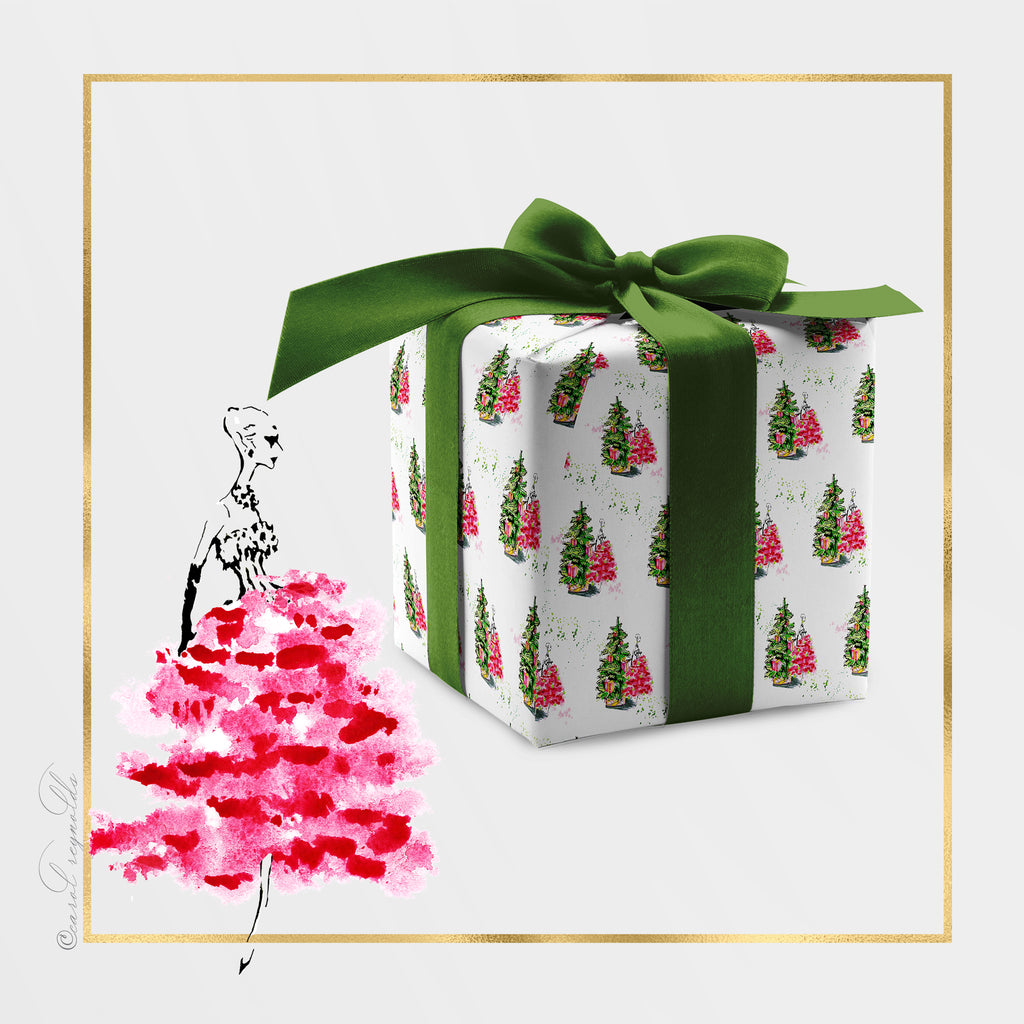 """Merry Chic-ness"" Christmas Wrapping Paper"
