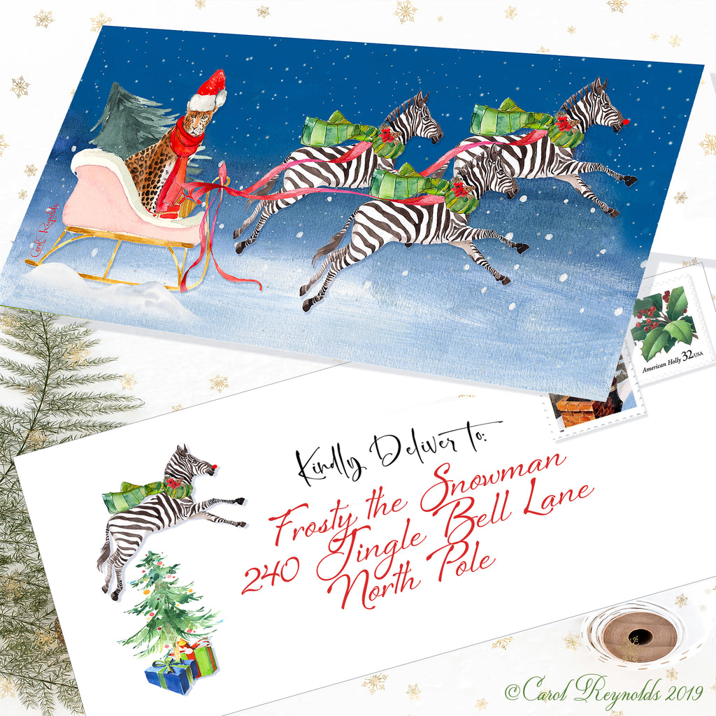"""Merry Little Christmas & A Wild New Year"" Christmas Cards"