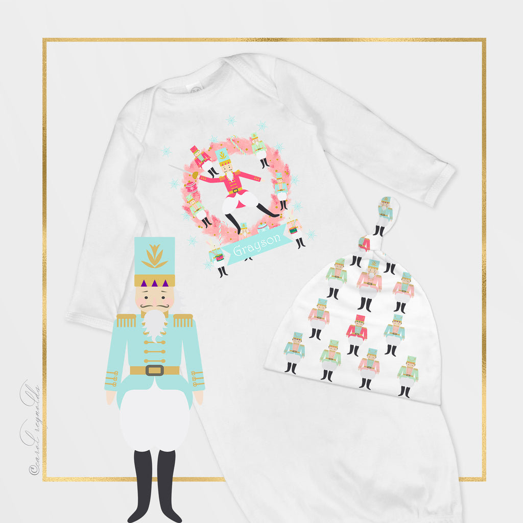 """Nutcracker Suite"" Infant Cap, Gown & Blanket"