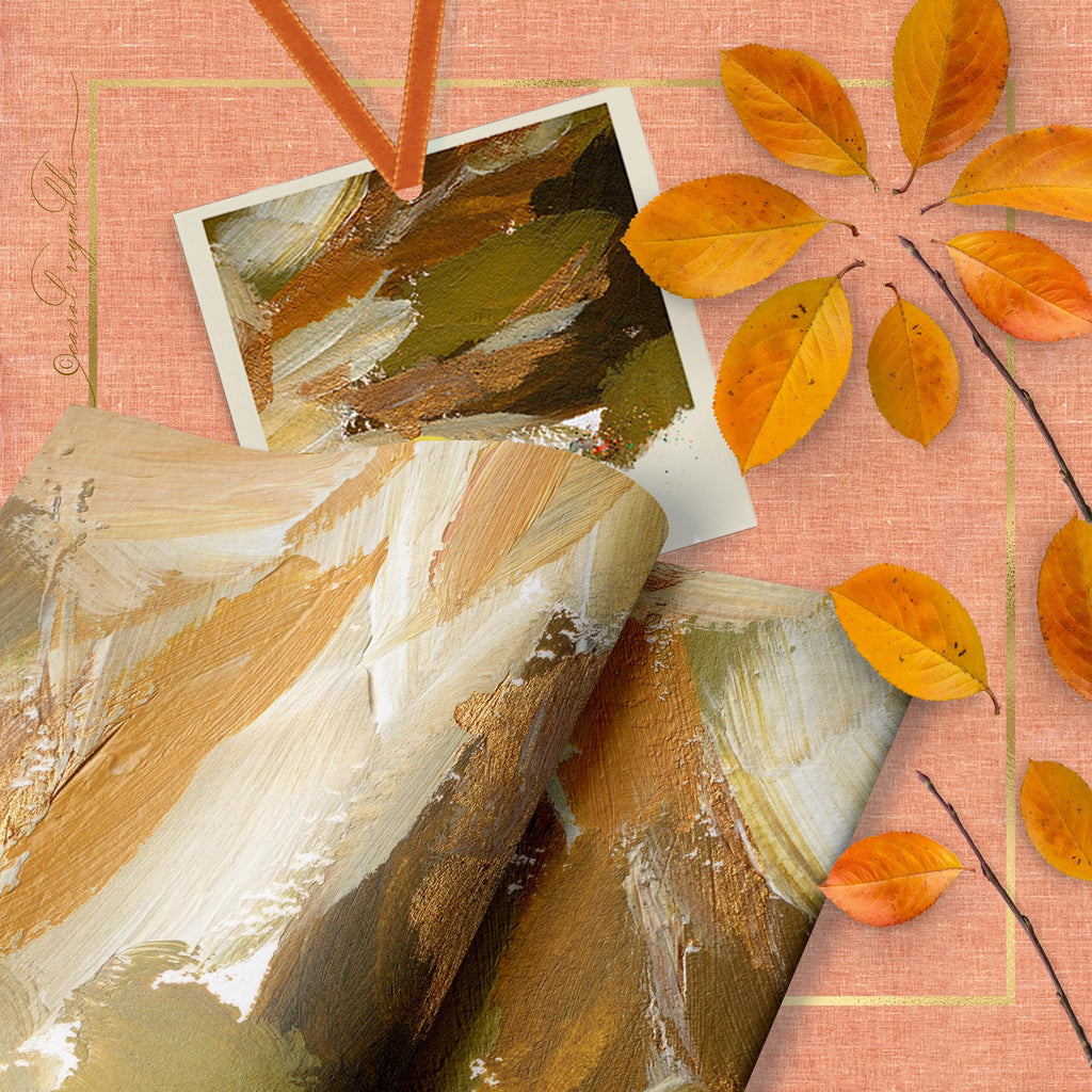 """Autumn Abstract"" Wrapping Paper"