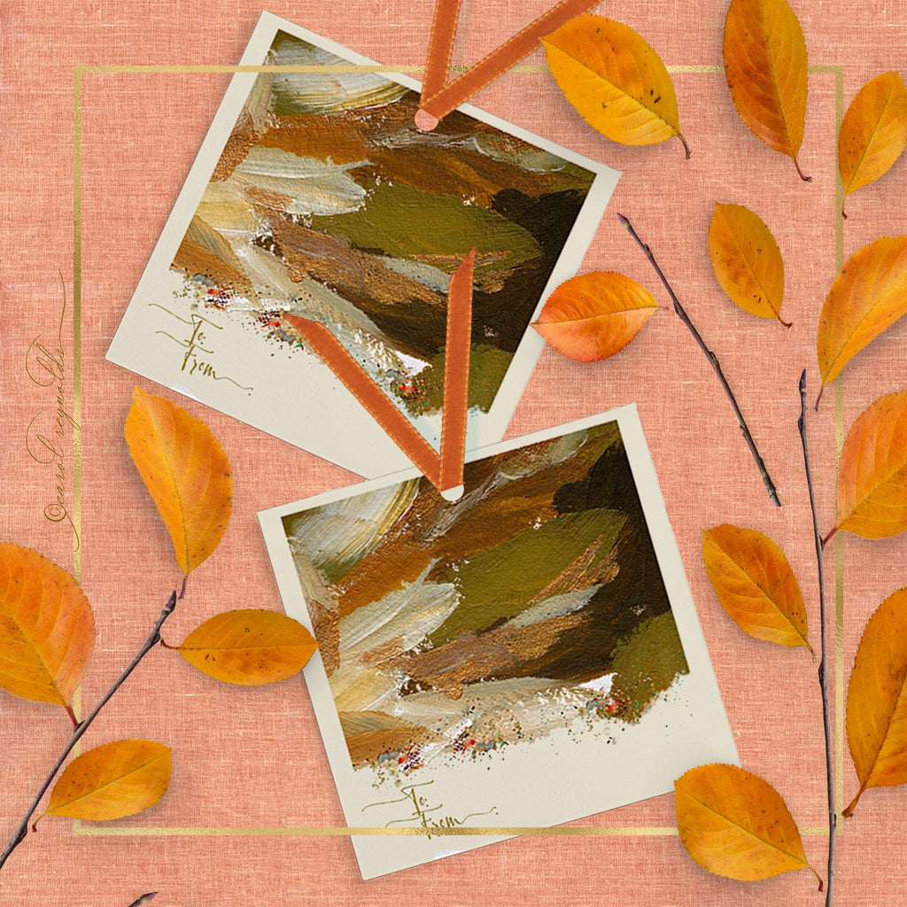 """Autumn Abstract"" Gift Tags"
