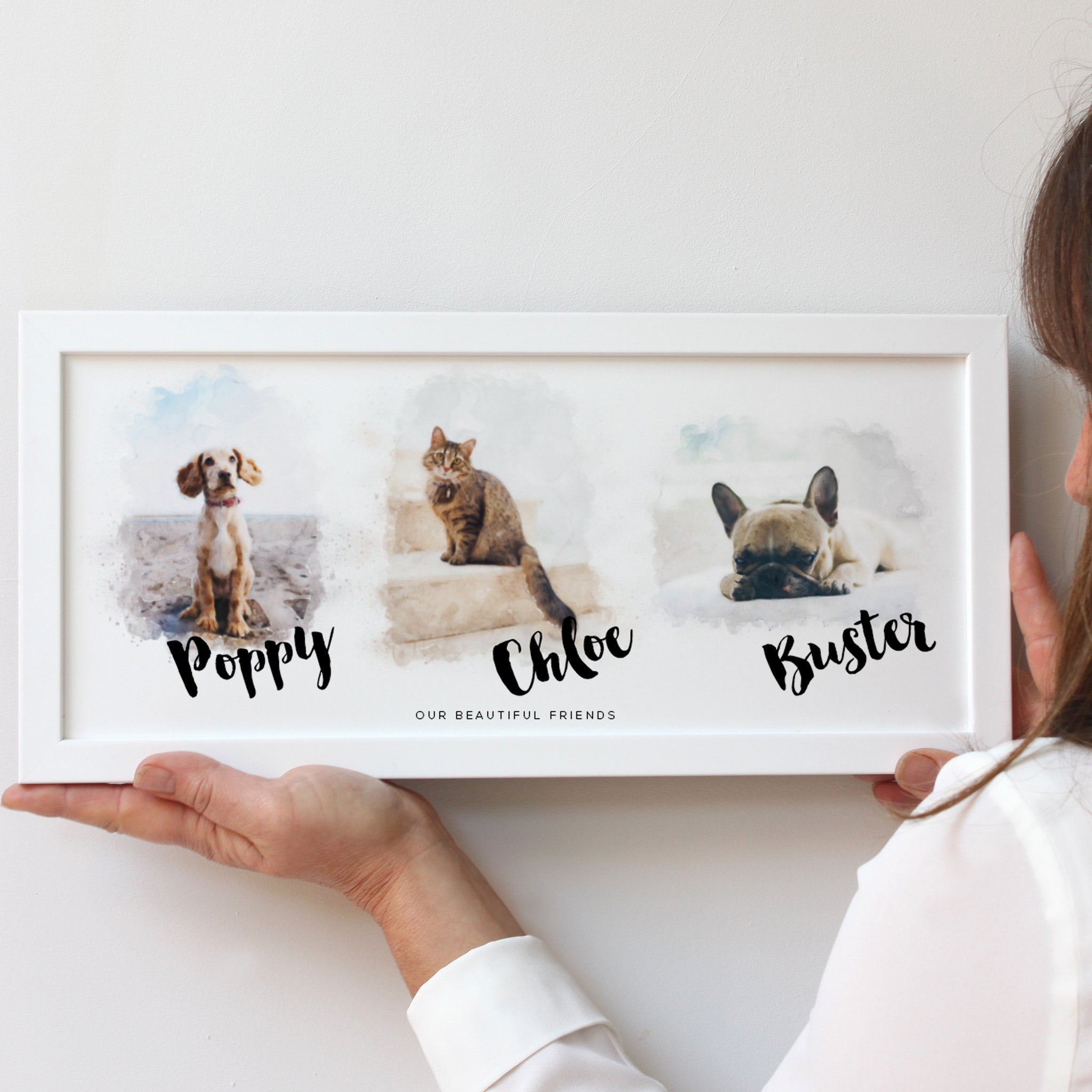 Bespoke Watercolour Pet Portraits Framed Print