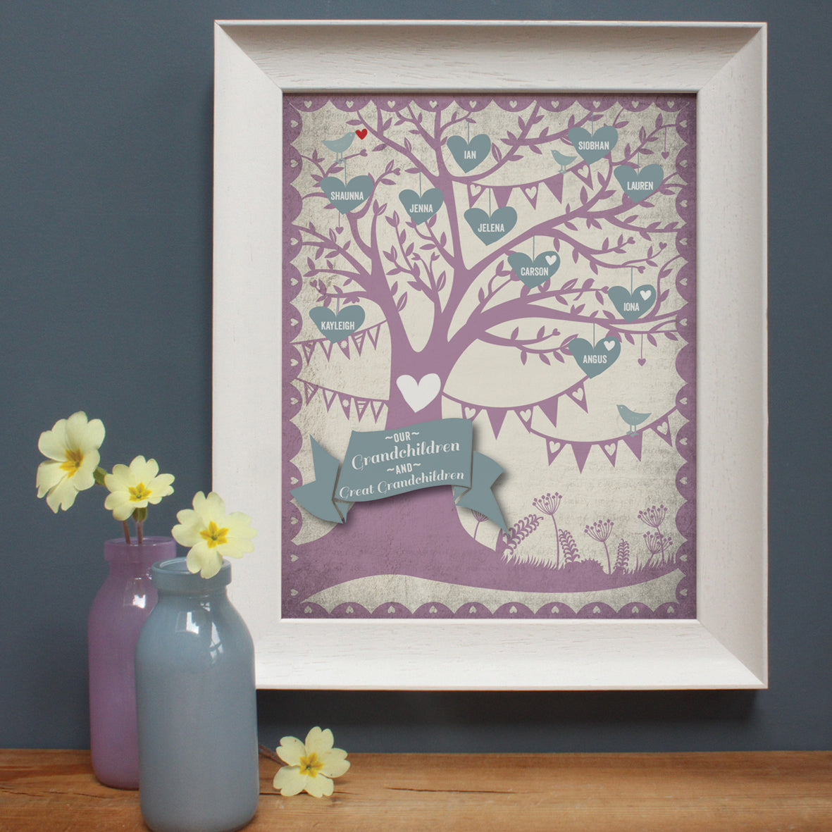 personalised mulberry family tree print
