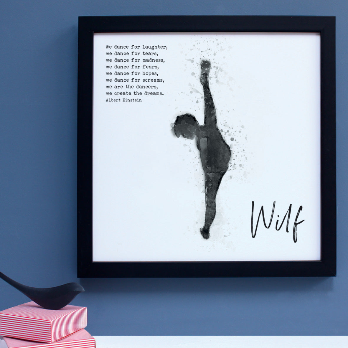 personalised dance portrait black and white print