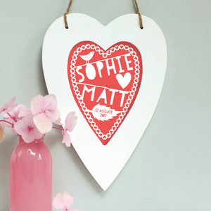 Personalised Wedding Heart Framed Print