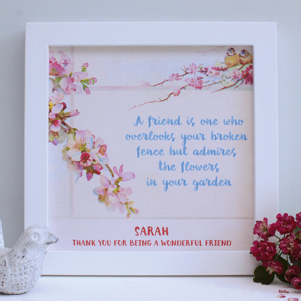 personalised friend little birds quote print