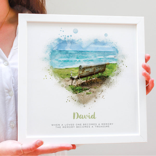 Personalised In Memory Watercolour Framed Print