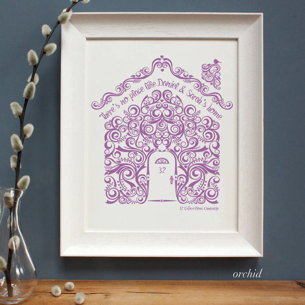 Personalised New Home Framed Print
