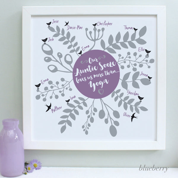 Personalised Our Aunty Loves...Framed Print