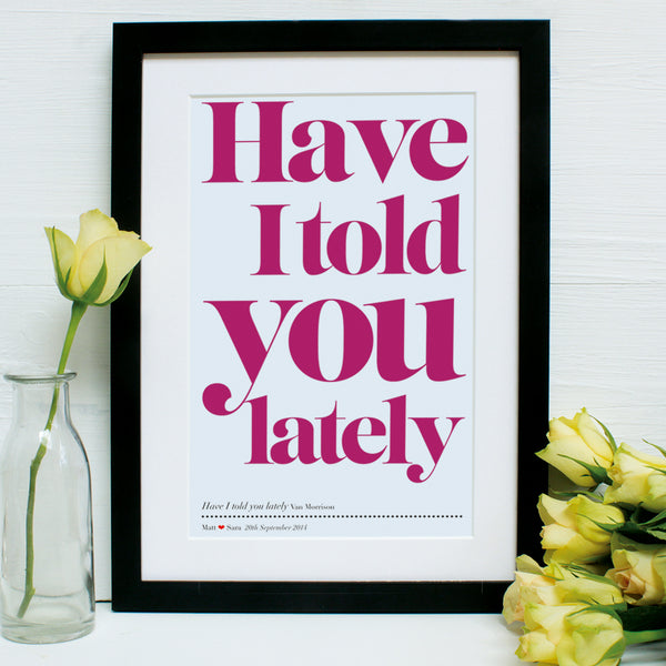 Personalised Our First Dance Song Framed Print