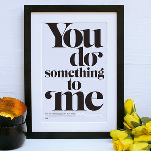 personalised favourite song print