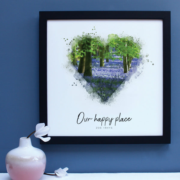 Bluebells Happy Place Framed Print