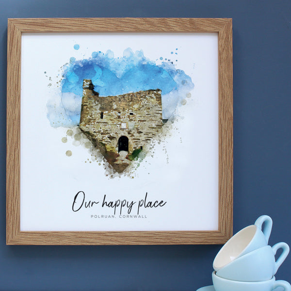 Polruan Watercolour Happy Place Framed Print