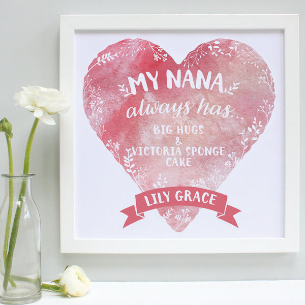personalised nana always has... print