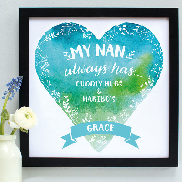 personalised nanny always has... print