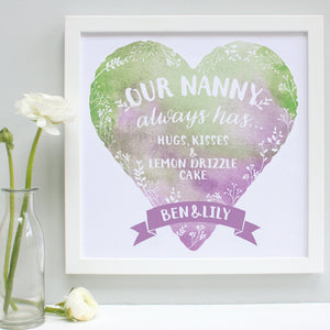 personalised nanny always has print