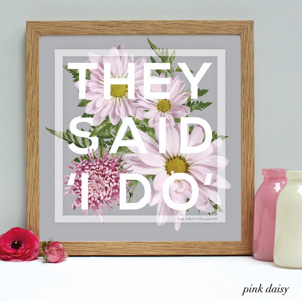 Personalised Wedding 'I Do' Framed Print