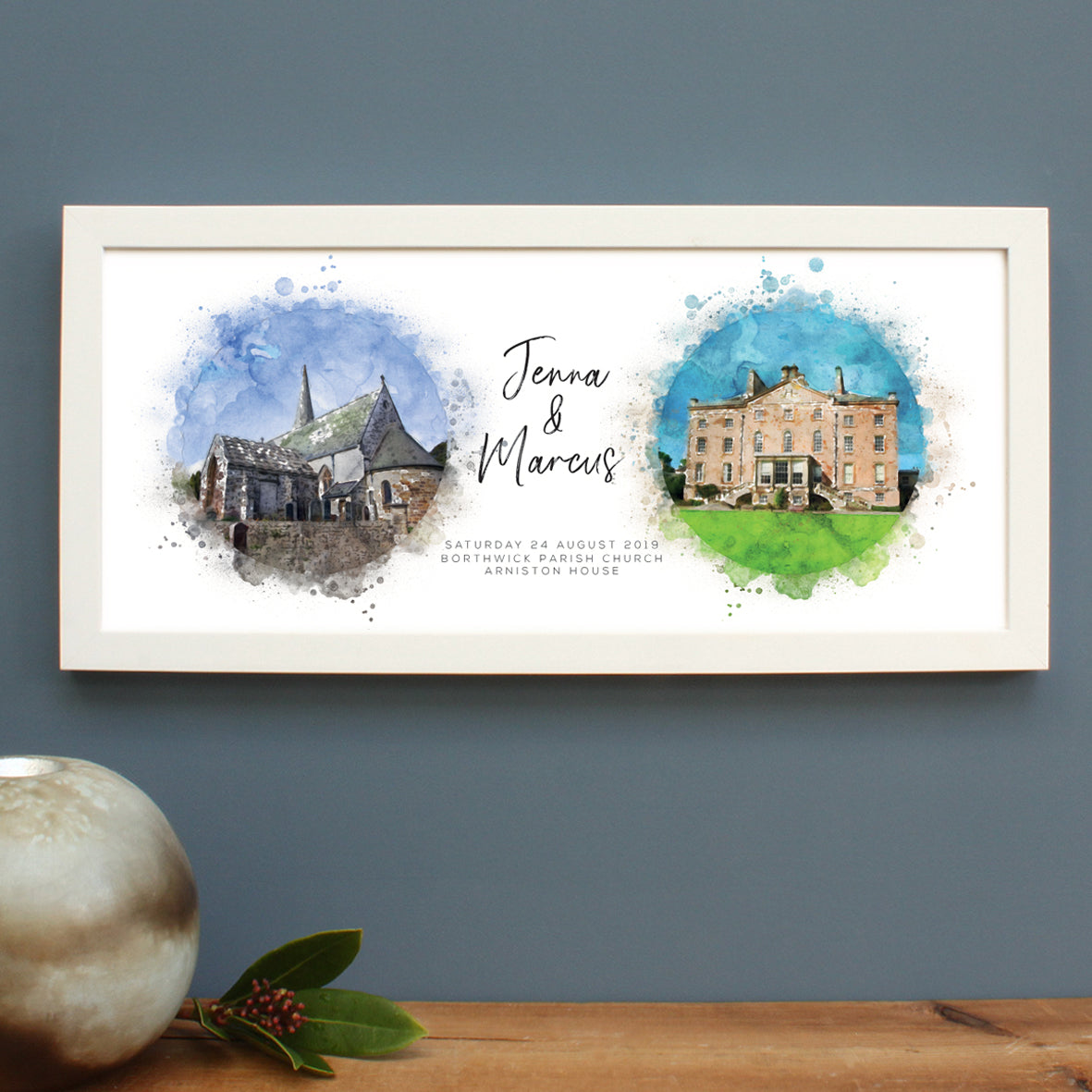 Personalised Church And Wedding Venue Watercolour