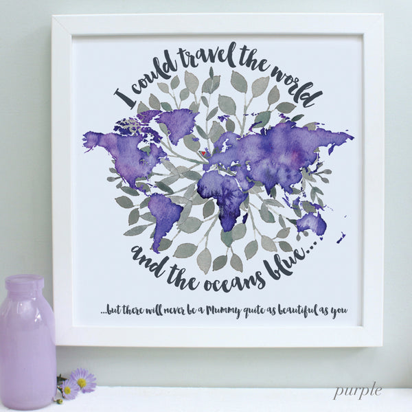 Personalised World's Best Mum Framed Print