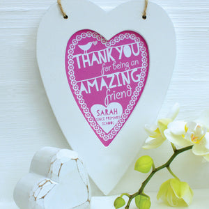 Personalised Thank You Framed Heart