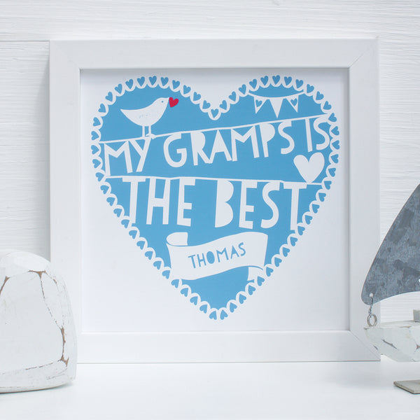 personalised the best gramps print
