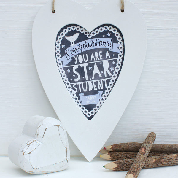 Personalised Star Student Framed Heart