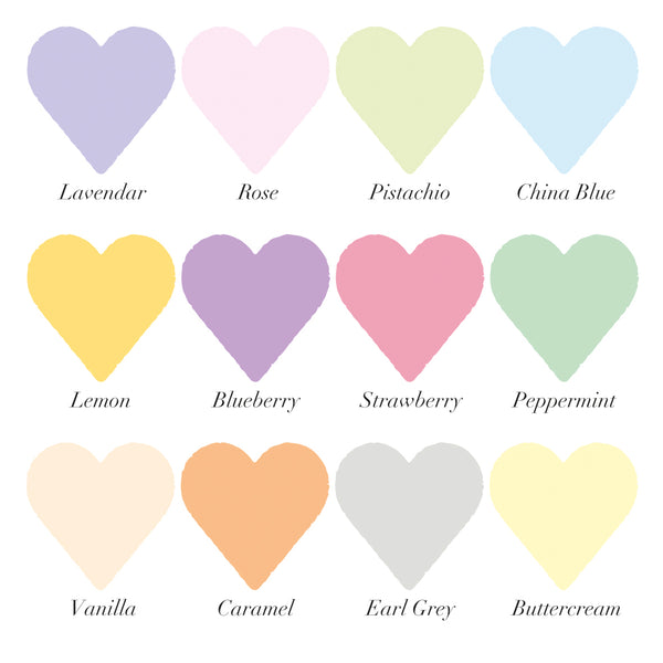 Personalised Pastel Love Heart Print