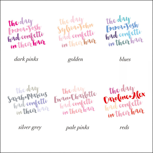 colour options for lettering