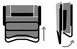 Bi-Fold Technology Chair folds in half twice for an extra compact design