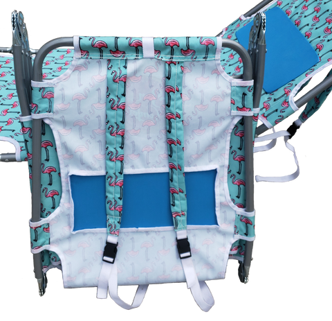 Chair features a handy backpack carry-straps