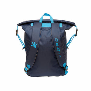 Lightweight 30L Waterproof Backpack - Navy/Neon Blue