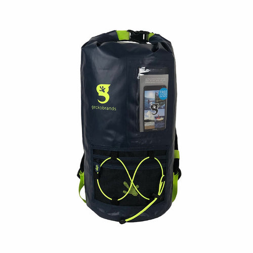Hydroner 20L Waterproof Backpack - Navy/Neon Green