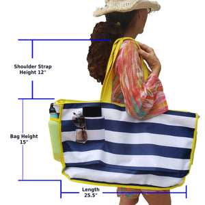 beach tote bag for women measurements