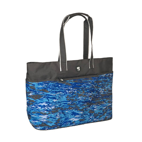 Oversized Beach Tote - Ocean geckoflage