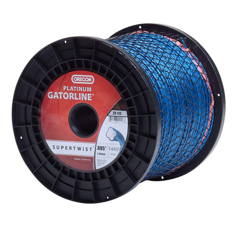 Oregon Platinum Gatorline, .095 Supertwist 5lb Spool