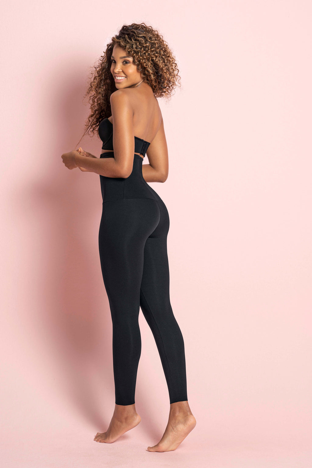 Extra High Waist Black- Moderate compression tights - Macaw Activewear