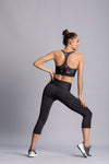 Black style - High waist capri tights with phone pocket - Macaw Activewear