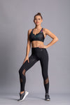 Mesh black - High waist tights - Macaw Activewear