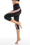 Blush pink - High waist capri tights - Macaw Activewear