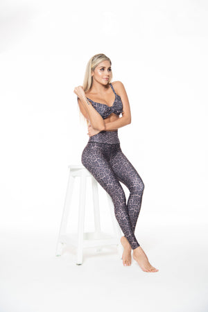 Leopard - High waist tights - Macaw Activewear